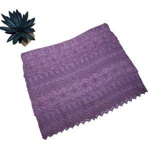 AEO - Lace Embroidered Mini Skirt Lilac Purple EUC